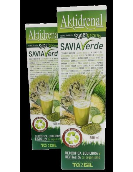 Pack (2 uds.) Aktidrenal Savia Verde - Tongil - 500 ml