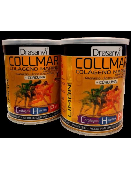 Collmar Pack (2 uds.) Colageno Marino con Curcuma-sabor Limon-300 gr-Drasanvi