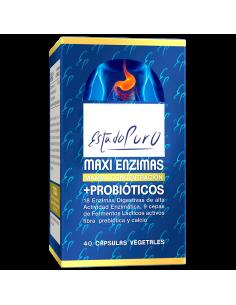 Maxi enzimas con Probióticos 40 cps Estado Puro Tongil