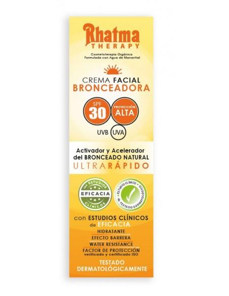Crema Facial Bronceadora SPF 30 Rhatma