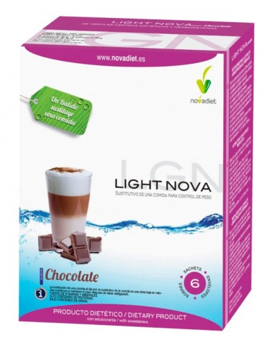 Light Nova Batido Chocolate Novadiet 6 sobres