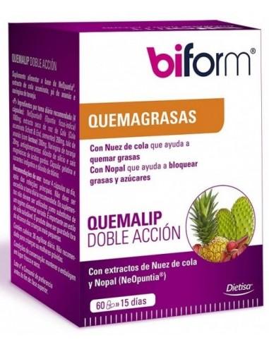 Biform Quemalip Doble Acción Dietisa 60 cápsulas