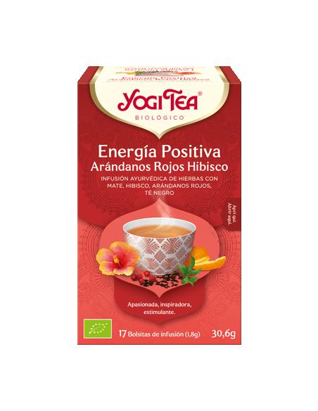 Yogi Tea Energía Positiva Arándanos Rojos Hibisco bolsitas